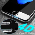 4D Curved Full Tempered Glass Coverage Film Protector For iPhone 6 6s 7 7 Plus