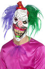 Smiffys Kolorful Killer Klown Full Face Mask Halloween Fancy Dress Accessory