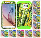 For Samsung Galaxy S6 - KoolKase Hybrid Impact Silicone Cover Case CAMO MOSSY 08