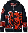 Forever Collectibles NFL Men's Chicago Bears Full Zip Hooded Sweater, Navy