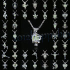 71Style Magic Glowing Silver Plated Animal Charm Pendant Luminous Necklace