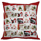 CHRISTMAS GIFT CUTE KITTEN COLLAGE DESIGN CUSHION XMAS HOME DECORATION
