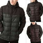 Threadbare Mens Worcester Designer Check Padded Coat Quilted Hooded Jacket