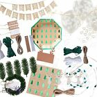 Ginger Ray Rustic Nordic Christmas Xmas Natural Giftwrap Decorations Partyware