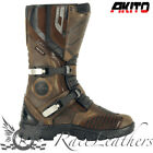 AKITO LATITUDE BROWN ADVENTURE MOTORCYCLE MOTORBIKE BOOTS QUALITY AT LOW PRICE