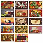 Decorative Kitchen Area Rug, Floor Mat, Carpet, Various Design Size Selections