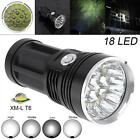 18x XM-L T6 LED 5400LM Waterproof Flashligth 4 Modes Torch Support 18650 Battery