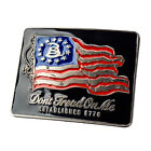 "Single | Buckle Rage | Belt Buckle | Flag ""Don't Tread On Me Established 1776 """