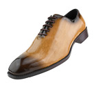 New Mens Brown Exotic Snake Skin Faux Print Oxford Dress Shoe TUXXMAN Tux Style