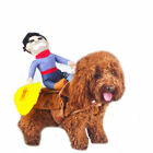 Funny Pet Clothes Puppy Cat Dog Cosplay Riding Cowboy Knight Suit for Halloween