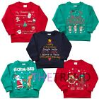 Kids Childrens Boys Girls Xmas Christmas Jumper Winter Top Sweater Ages 2-6 UK