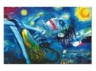 Starry Night Joker Hand Painted Oil Painting on Canvas (No frame)