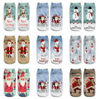 3D Printed Christmas Women Casual Boat Socks Cute Unisex Low Cut Ankle Socks NEW