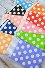 Big Polka Dot paper bags 12pc White Dot wedding party favour sweet treat bags