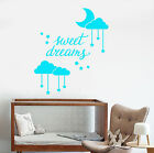 Vinyl Wall Decal Sweet Dream Words Moon Stars Decor For Nursery Stickers 1678ig