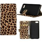 Luxury Leopard Leather Card Flip Wallet Cover Case For Samsung iPhone Phone