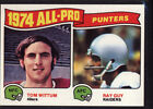 1975 Topps #224 All Pro Punters/Tom Wittum/Ray Guy - MINT *00G-627