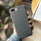 """For Iphone 7/8 4.7"""" Cover Case Soft Denim TPU Skin Shockproof Back Protective"""