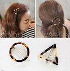 Leopard Triangle Round Hair Clips Barrette Hairpins Hair Accessories For Girl