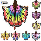 Внешний вид - Women Butterfly Wings Shawl Scarves Fashion Nymph Pixie Poncho Costume Accessory