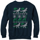 Lost Gods Dinosaur Ugly Christmas Sweater Print Womens Graphic Sweatshirt