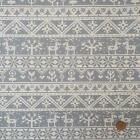 CANVAS Christmas Nordic themed fabric silver & ivory  110 cm wide 100% cotton