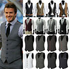 Business Mens Formal Dress Vest Top Suit Slim Fit Jacket Casual Tuxedo Waistcoat