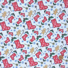 Christmas Fabric Stockings & gingerbread per 1/2 Metre / Fat quarter polycotton