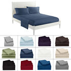Comfort Bed Cover Set Flat Fitted Deep Pocket Bed Sheet & Pillowcase Solid Color image