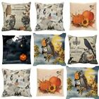 Happy Halloween Pillow Cases Linen Sofa Bedroom Cushion Cover Home Bed Decor