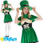 Womens Leprechaun Costume Irish Lucky St Patricks Day Lass Fancy Dress Outfit