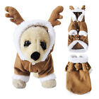 Cute Pet Puppy Dog Christmas Clothes Xmas Reindeer Costume Coat Apparel Hoodie