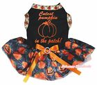 Halloween Black Top Cutest Pumpkin in Patch Spider Web Tutu Pet Dog Puppy Dress
