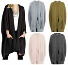UK New Ladies Womens Chunky Knitted Baggy Oversized Long Jumper Cardigans Top