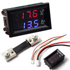 0-100V Dual Digital 10A/50A/100A measure Voltmeter Ammeter Panel AMP Volt Gauge