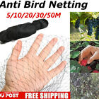 100'/164' Anti Bird Protection Net Fruit Vegetable Flower Garden Pond Netting
