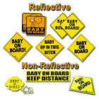 Внешний вид - Zone Tech Baby On Board Car Safety Bumper Decal Magnet Reflective Warning Sign