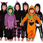 Nifty Kids Childrens Halloween All In One Fancy Dress Kids Sleepsuits Jumpsuits