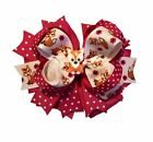 4-Layer Fox Boutique Hair Bow
