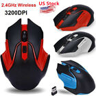 US 2.4GHz 3200DPI Wireless Optical USB Gaming Mouse Mice For PC Laptop Computer