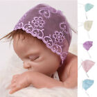 Lovely Newborn Baby Girl Boy Lace Floral Photo Costume Photography Prop Hats Cap