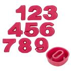 Birthday Party Cake Biscuit Jelly Number 0-9 Mould Silicone Non Stick Oven Safe