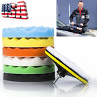 "8 7"" 6'' 5"" Polishing Sponge Waxing Buffing Pad Compound Auto CAR Polisher Drill"