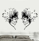 Vinyl Wall Decal Lions Heads African Animals Art Tree Nature Stickers (1783ig)