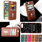 Luxury Real Leather Flip Smart Wallet Case Cover+Card Holder For iPhone 7 7Plus