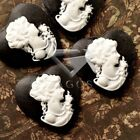 Vintage Cameo Resin Cabochons Heart Round Square Oval Lady Portrait Characters
