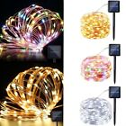 Solar powered Warm White Lights 10M 100LED Copper Wire LED String Fairy lamps