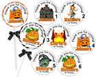 40 HALLOWEEN PARTY FAVORS TAGS LOLLIPOP LABELS - 2 inches each