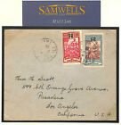 MS1346 1928 France Colonies OCEANIA TAHITI *Papeete* Commercial Cover California