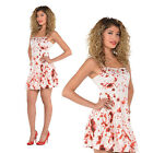 Christys Dress Up Womens Bloody Dress Ladies Scary Halloween Gory Costume Outfit